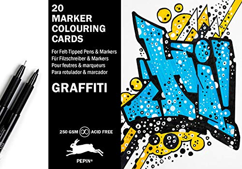 Graffiti Style: Marker Colouring Postcards: 20 marker colouring cards von Pepin Press