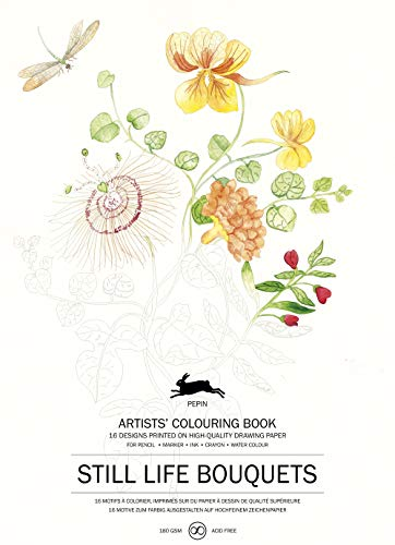 Still Life Bouquets: Artists' Colouring Book von Pepin Press
