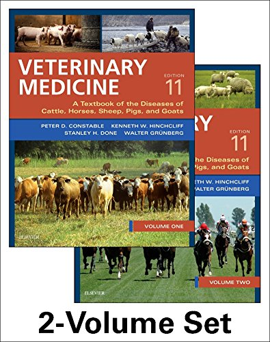 Veterinary Medicine: A textbook of the diseases of cattle, horses, sheep, pigs and goats - two-volume set von Saunders Ltd.