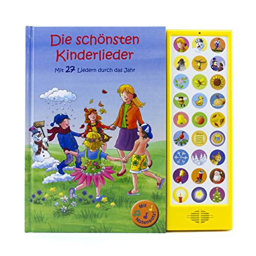 27-Button Soundbuch - Die schönsten Kinderlieder zum Mitsingen - Mit 27 Liedern durch das Jahr Hardcover-Buch mit Noten - Liederbuch von Phoenix International Publications Germany GmbH