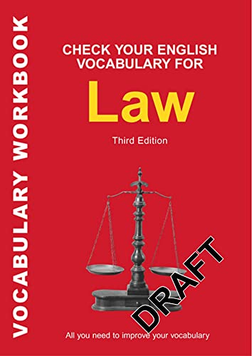 Check Your English Vocabulary for Law: All you need to improve your vocabulary (Check Your English Vocabulary Series) von A&C Black