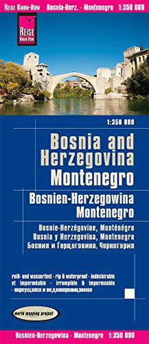 Reise Know-How Landkarte Bosnien-Herzegowina, Montenegro (1:350.000): world mapping project von Reise Know-How