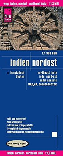 Reise Know-How Landkarte Indien, Nordost (1:1.300.000): world mapping project von Reise Know-How