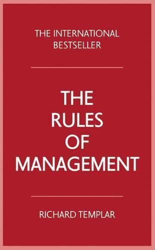 The Rules of Management (4th Edition) von Pearson Business