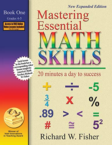 Mastering Essential Math Skills: 20 Minutes a Day to Success, Book 1: Grades 4-5 von Math Essentials