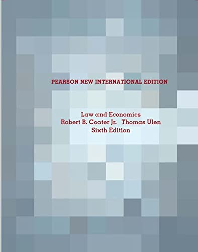 Law and Economics Pearson New International Edition: Pearson New International Edition von Pearson