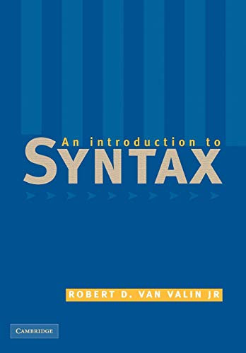 An Introduction to Syntax von Cambridge University Pr.