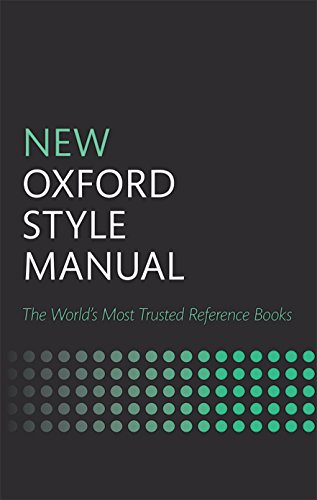 New Oxford Style Manual: The Wold´s Most Trusted Reference Books