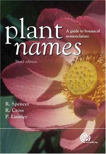 Plant Names: A Guide to Botanical Nomenclature: A Guide to Biological Nomenclature (Cabi) von CABI Publishing