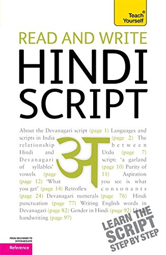 Read and write Hindi script: Teach Yourself von Hodder And Stoughton Ltd.