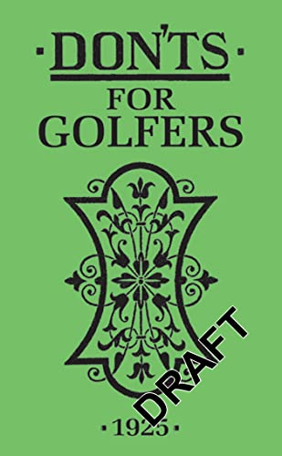 Don'ts for Golfers von A&C Black