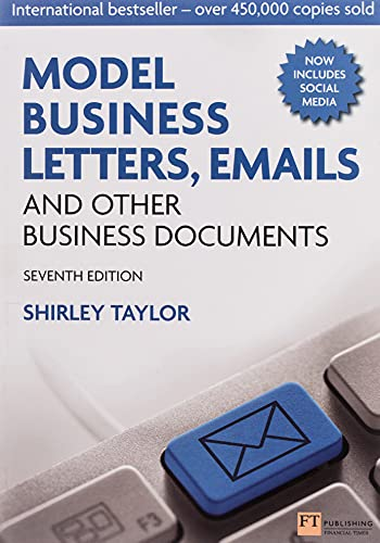 Model Business Letters, Emails and Other Business Documents von Financial Times Prent.