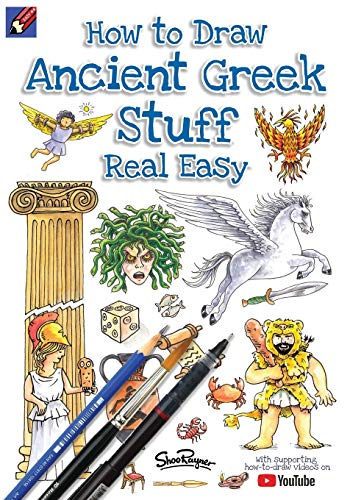 How To Draw Ancient Greek Stuff Real Easy: Easy step by step drawing guide (Draw Stuff Real Easy, Band 1)