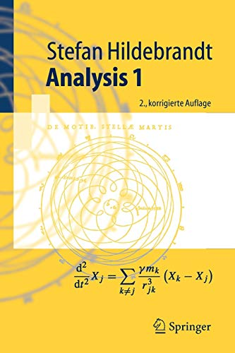 Analysis 1 (Springer-Lehrbuch) (German Edition) von Springer, Berlin