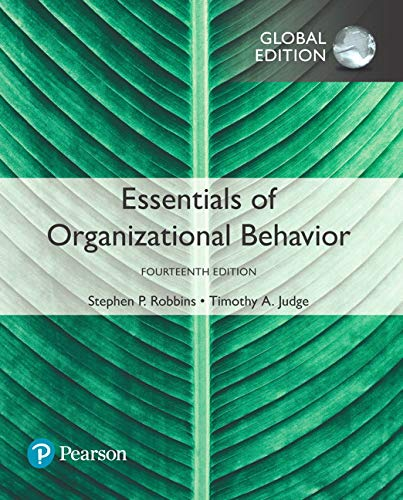 Essentials of Organizational Behavior, Global Edition von Pearson