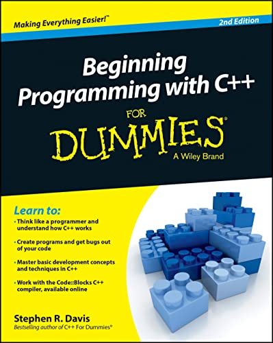 Beginning Programming with C++ For Dummies, 2nd Edition (For Dummies Series) von For Dummies
