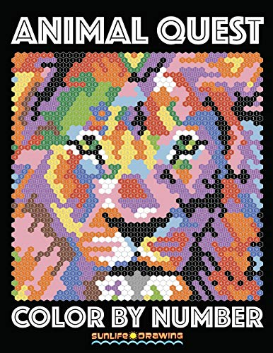 ANIMAL QUEST Color by Number: Activity Puzzle Coloring Book for Adults Relaxation & Stress Relief (Color By Number Quest, Band 1) von CreateSpace Independent Publishing Platform
