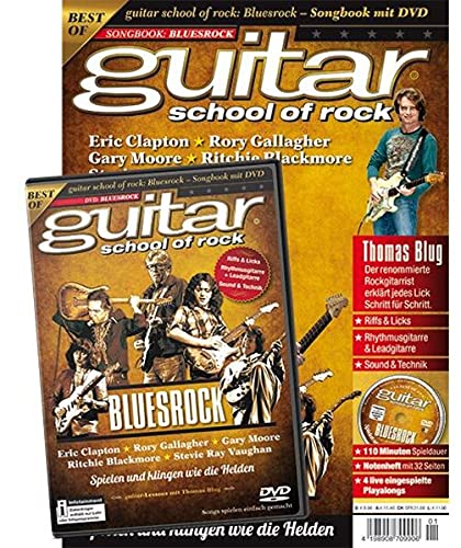 guitar school of rock: Bluesrock: Songbook mit DVD von PPV Medien