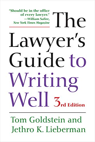 The Lawyer's Guide to Writing Well von University of California Press