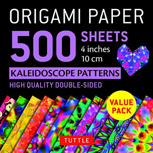 "Origami Paper 500 Sheets Kaleidoscope Patterns 4"" (10 CM): Tuttle Origami Paper: High-Quality Double-Sided Origami Sheets Printed with 12 Different Pa (Origami Paper Pack 4 Inch) von TUTTLE PUB"
