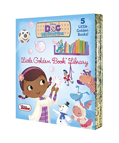 Doc McStuffins Little Golden Book Library (Disney Junior: Doc McStuffins): As Big as a Whale; Snowman Surprise; Bubble-Rific!; Boomer Gets His Bounce Back; A Knight in Sticky Armor von Random House Disney
