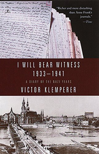 I Will Bear Witness, Volume 1: A Diary of the Nazi Years: 1933-1941 (Modern Library (Paperback)) von Modern Library