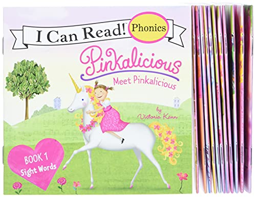 Pinkalicious 12-Book Phonics Fun!: Includes 12 Mini-Books Featuring Short and Long Vowel Sounds (My First I Can Read) von HarperCollins