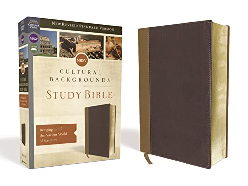 NRSV, Cultural Backgrounds Study Bible, Leathersoft, Tan/Brown, Comfort Print: Bringing to Life the Ancient World of Scripture von Zondervan