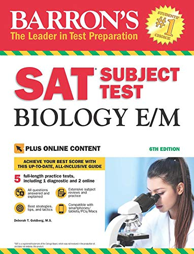 Barron's SAT Subject Test Biology E/M with Online Tests (Barron's Test Prep) von Kaplan Publishing