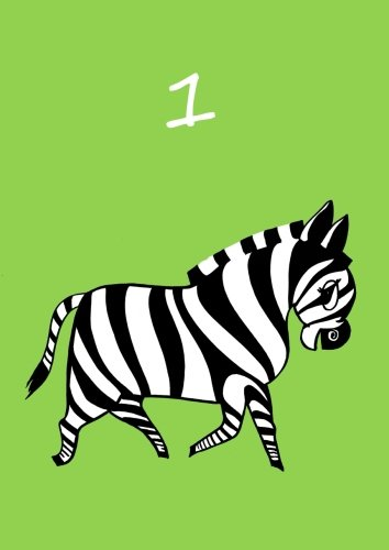 blanko A4 Daniela: Zebra personalisiertes Malbuch // Notizbuch // Tagebuch