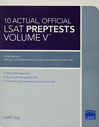 10 Actual, Official LSAT Preptests Volume V: (preptests 62-71) (Lsat Series) von LAW SCHOOL ADMISSION COUNCIL
