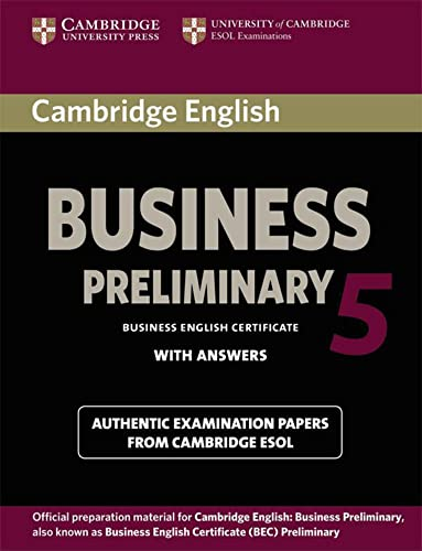 Business Preliminary 5: Preliminary Student's Book Pack (Student's Book with answers and Audio CD)