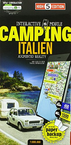 Interactive Mobile CAMPINGMAP Italien: Campingkarte Italien 1:800 000 (High 5 Edition CAMPING Collection) von High 5 Edition AG