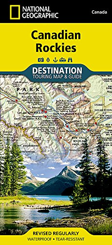 Canadian Rockies Destination Map 1:710,000 (National Geographic Destination Map)