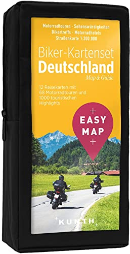 EASY MAP Biker-Kartenset Deutschland: 12 Motorradkarten 1:300.000 (KUNTH EASY MAP) von Kunth