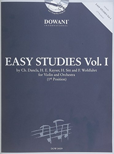 Easy Studies, Volume 1 (First Position): For Violin and Orchestra