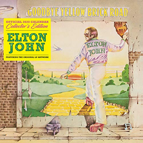 Elton John Collectors Edition 2020 Calendar - Official Squar
