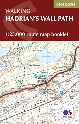 Richards, M: Hadrian's Wall Path Map Booklet: 1:25,000 OS Route Mapping (Walking) von Cicerone Press