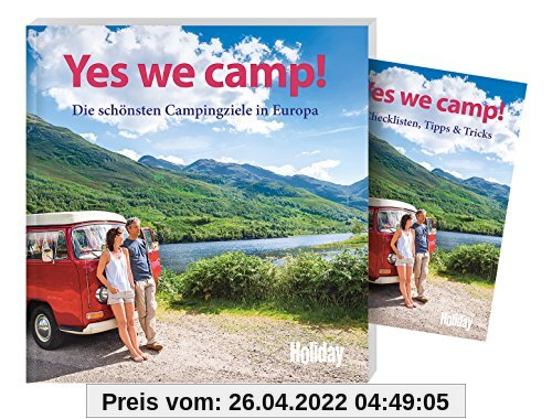 Holiday Reisebuch Yes we camp!: Die schönsten Campingziele in Europa