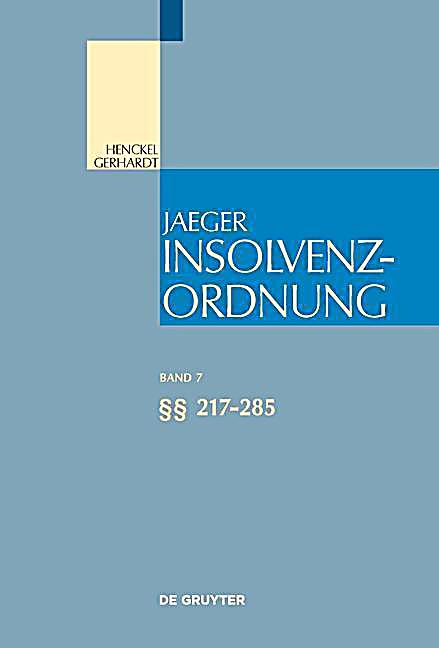 Insolvenzordnung: .Band 7 217-285
