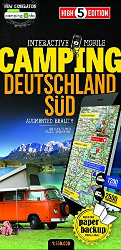 Interactive Mobile CAMPINGMAP Deutschland Süd: Campingkarte Deutschland Süd 1:550 000 (High 5 Edition CAMPING Collection) von High 5 Edition