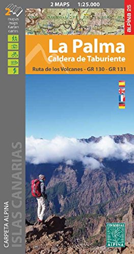 La Palma 1:25 000: Set of 2 maps von Editorial Alpina