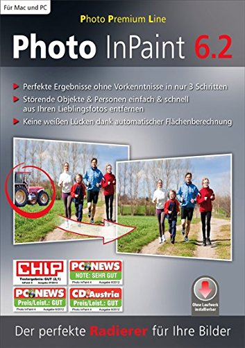 Photo InPaint 6.2. Für Windows 8/ Windows 7/ Windows Vista / Windows XP (jeweils 32- & 64-Bit) von bhv Distribution GmbH