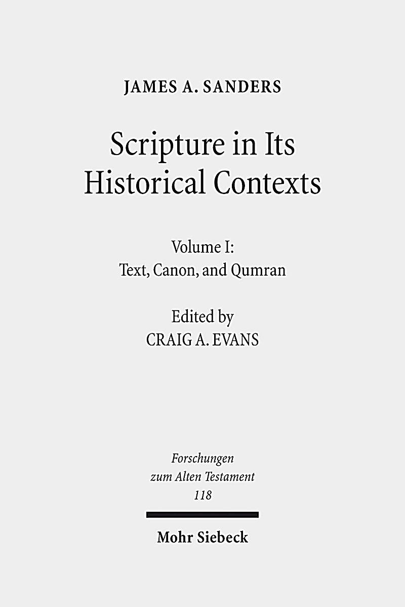 Scripture in Its Historical Contexts