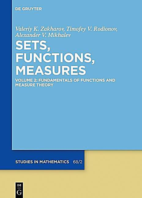 Sets, Functions, Measures