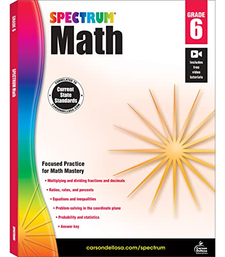 Spectrum Math Workbook, Grade 6 von SPECTRUM