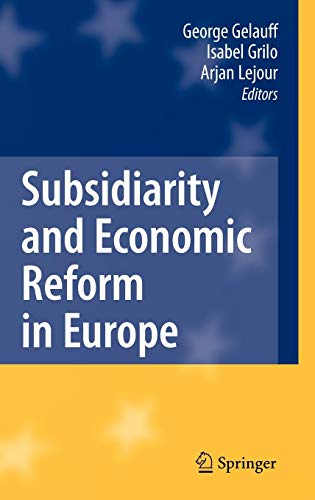 Subsidiarity and Economic Reform in Europe von Springer