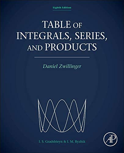 Table of Integrals, Series, and Products von Academic Press