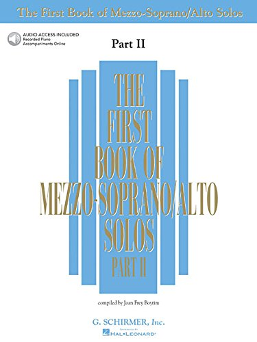 The First Book of Mezzo-Soprano/Alto Solos, Part II [With 2 CD's] (First Book of Solos Part II)
