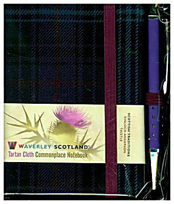 Thistle Tartan Mini with Pen Scottish Traditions
